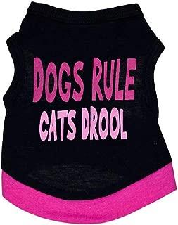 Jiabei Dog Clothing Cotton Black Printed Letters Pet Vest Dog T-Shirt Pet Clothes