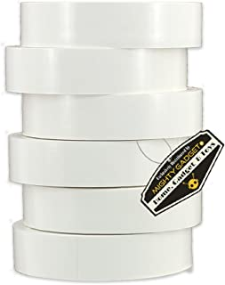 """6 Pack of Mighty Gadget (R) Professional Grade UL Listed White Color PVC Electrical Tapes with Durable Rubber Based Adhesive, Rated up to 600 Volts and 176 °F - Dimensions: 3/4"""" (W) x 60 Feet (L)"""