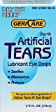 Gericare Artificial Tears Lubricant Eye Drops, 15 mL Per Bottle (5 Pack)