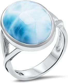 Marahlago - Basic Oval Larimar Ring