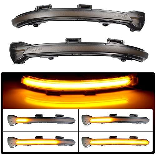 Ein Paar dynamische LED Blinker Licht Spiegel Indikator für Golf 7 MK7 GTI 7 R 7.5 Golf Sportsvan (Schwarze Muschel( Gelb ))