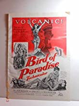 Advertisement: Bird of Paradise, Louis Jourdan, Debra Paget, Jeff Chandler