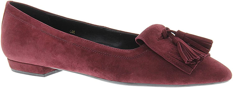 VANELi Womens Gemma Suede Almond Toe Wine Suede Size 7.0