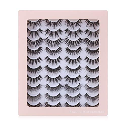 Woman Handmade Fluffy Natural False Eyelashes Crisscross 3D Faux Mink Hair Lash Extension(G1003)