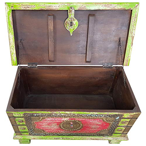 Indoortrend.com Truhe Kiste Holztruhe Box 80 Vintage Massiv Shabby Chic aus Handarbeit Unikat 3 - 3
