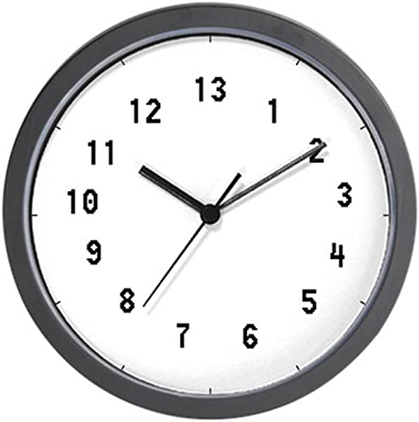 CafePress 13 Hour Clock Unique Decorative 10 Wall Clock