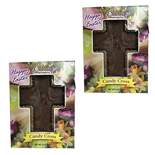 Happy Easter Candy Cross Chocolate Bundle 2 Pieces Included (Milk Chocolate)
