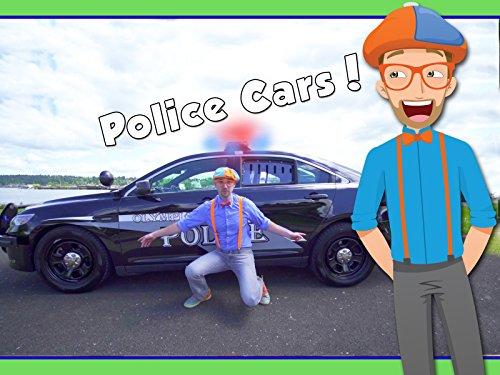 Police Cars for Children with Blippi - Educational Videos for Kids