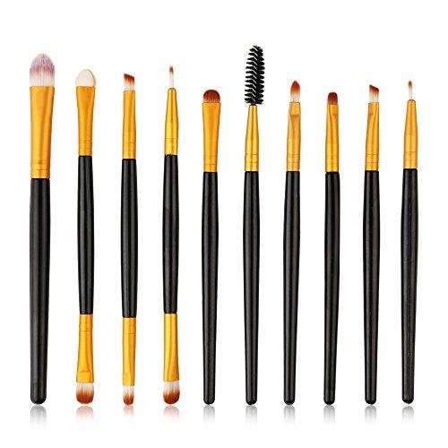 Wolfleague 10 PièCes Maquillage Set De Brosse Maquillage Professional Maquillage Set De Brosse Maquillage Kit De Toilette Set De Brosse Pinceau Crayon à PaupièRes