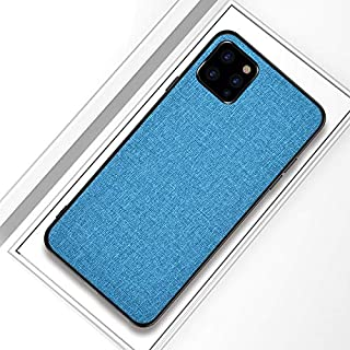 JH Ultra Thin case for iPhone 11 with Full Body Shockproof Armor+Cover TPU Canvas+ Comfort Silicon Touch+Anti Sweat+ Anti Finger Print (Sky Blue)