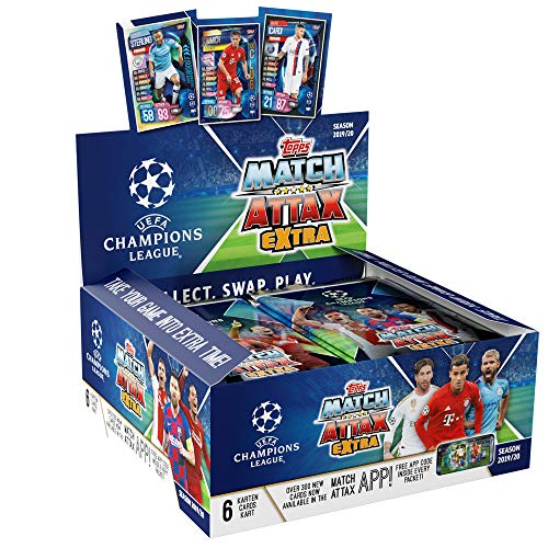 30 Champions League extra 2019//20 trading cards 1 Display Booster