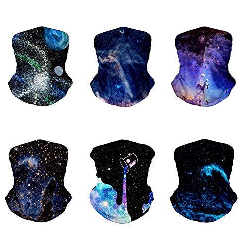 6 bandanas multifuncionales para la cabeza, pasamontañas, diadema mágica, elástica, para el cuello, para correr, ciclismo, motociclismo, yoga, deportes al aire libre