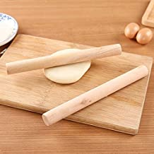 Rolling Pins & Pastry Boards - Natural Kitchen Solid Wooden Rolling Pin Fondant Cake Decoration Dough Roller Baking kitche...
