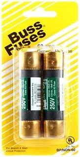 Bussman BP/NON-60 60 Amp 250 Volt Fast Acting Cartridge Fuses 2 Count