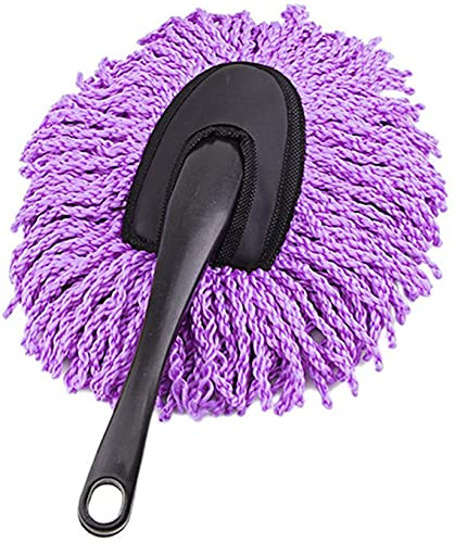 COLiJOL Car Duster Car Wash Cleaning Brush Microfiber Dusting Tool Duster Dust Mop Home Cleaning (Color : Purple, Size : 30X10X5.5Cm),Purple,30X10X5.5Cm