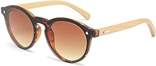 Round Wood Retro Sunglasses - 100% UV Protection - Includes 'Natural' Carrying Case - VINTAGE SERIES