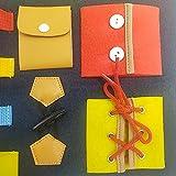 Decdeal Juguetes de Aprendizaje Temprano para Niños Vestirse Tablero de Fieltro para Prácticas de Vida Educativo Bebé Niños Aprendizaje Entrenamiento Juguetes