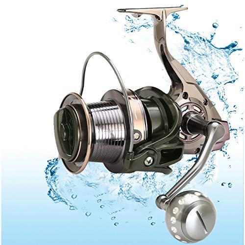 XCDM Carrete de Pesca de caña de mar, Compatible con Carrete de Cebo de Servicio Pesado, Carrete de Lanzamiento de Larga Distancia 4.0: 1 Carrete de Alta Velocidad y Carrete de Gran Capacidad