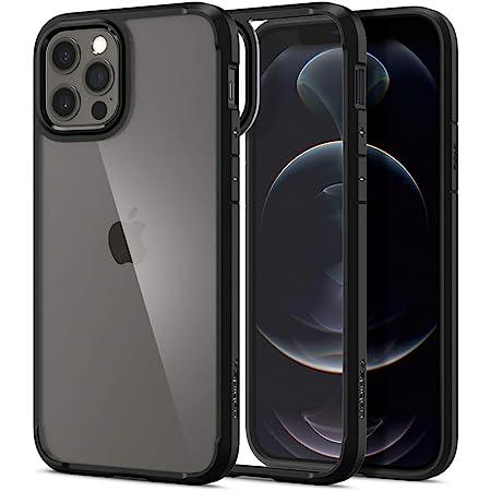 Spigen iPhone12 用 ケース iPhone12Pro 用 ケース 6.1インチ MagSafe 対応 ケース 背面クリア TPUバンパーケース 米軍MIL規格取得 耐衝撃 すり傷防止 ワイヤレス充電対応 アイフォン12 ケース アイフォン12プロケース ウルトラ・ハイブリッド ACS01703 (マット・ブラック)