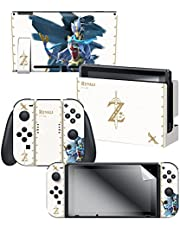 "Controller Gear Nintendo Switch Skin & Screen Protector Set Officially Licensed By Nintendo - The Legend of Zelda: Breath of the Wild: ""Revali White Pattern"" - Nintendo Switch"