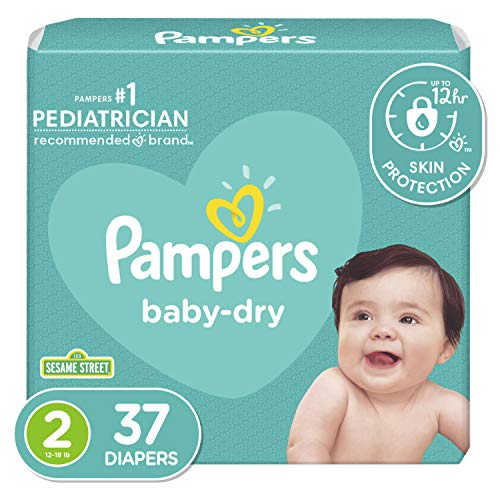Diapers Size 2, 37 Count - Pampers Baby Dry Disposable Baby Diapers, Jumbo Pack
