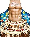 ITATI - Grembiule sexy per barbecue, grembiule da cucina antimacchia per uomo, modello Feliz Compleanno, dimensioni 75 x 58 cm