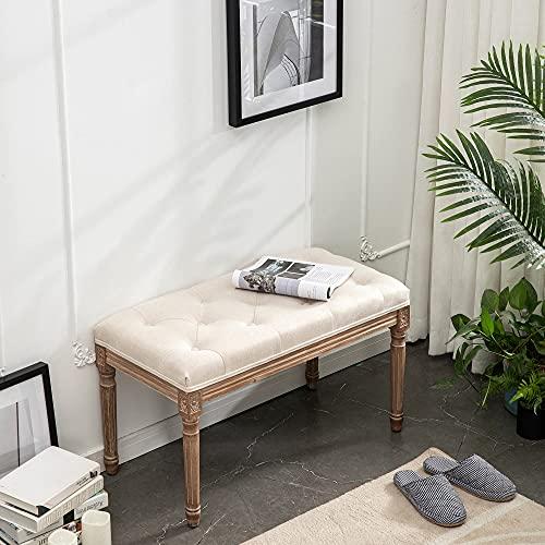 banco tapizado para dormitorio de la marca XRHOM