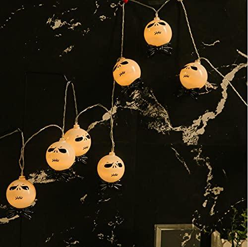 Halloween Luces LED de Cadena, 2m 20 LED Lámpara Batería Luz de Hada Cadena Decoración de Bricolaje, Guirnalda Lights, Funcionada por Pilas, 3 Modos de Iluminación, para Jardín, Interior, Exterior
