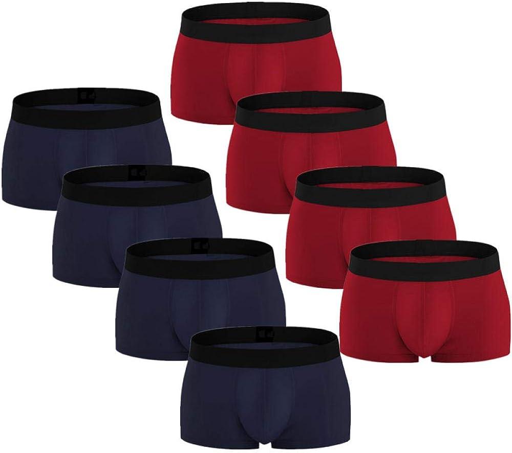 Boxershorts Men 8Pcs/Lot Mens Boxer Underwear Shorts Knicker Thermal Panties Smart Casual Man Underpants Cotton U Convex Set Pants-C_Xxl