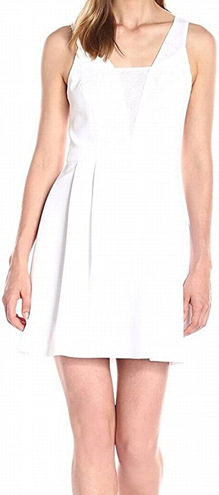 BCBGeneration Women's Woven Lace Insert Sleeveless Dress