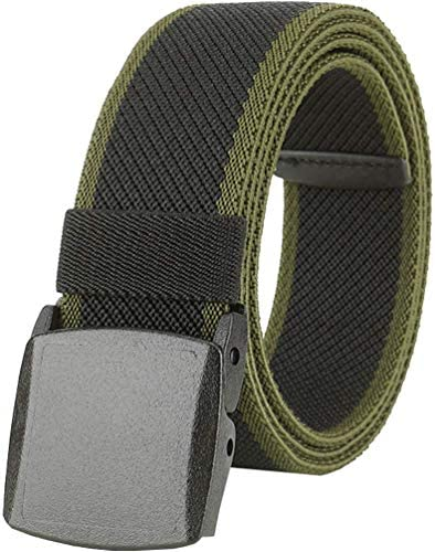 Men s Elastic Stretch Belts Breathable Canvas Sports Belt for Men Women with Plastic Buckle product image