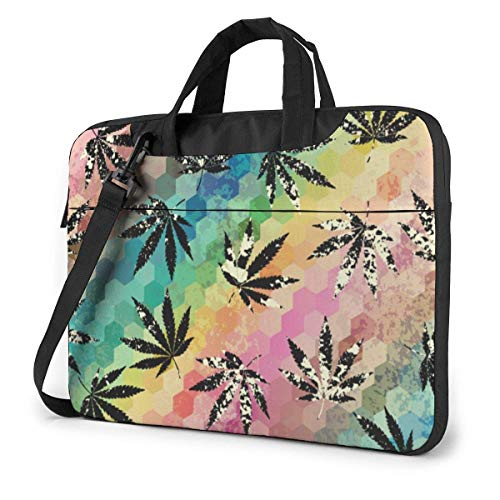 Laptop Bag, Tropical Leaves Multi-Functional Laptop Travel Bag with Strap and Handle for 13-15.6in Laptop