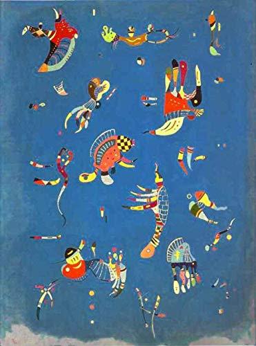 Cnvuos 5D Diamant Painting Zubehör Wassily Kandinsky Himmelblau Malen Nach Zahlen Kit Bild Liefert Kunsthandwerk Wandaufkleber Dekor 40 * 50cm