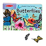 Melissa & Doug Children's Book - Play-Alongs: Butterflies (10 Pages, 6 Butterfly Toys)
