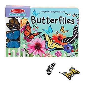 Melissa & Doug Children's Book - Play-Alongs  Butterflies  10 Pages 6 Butterfly Toys