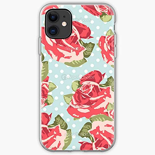 Compatibile con iPhone 12/11 Pro Max 12 mini SE X/XS Max XR 8 7 6 6s Plus Custodie Kidston Flowers Polka Rose Floral Roses Cath Flower Pure Clear Custodie per Telefoni Cover