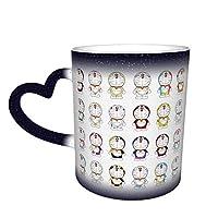 マグカップかわいい漫画セラミック色変更カップ水カップ創造的な誕生日プレゼント