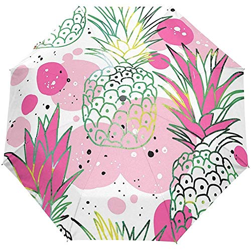 Moderne Tropische Pflanzen Ananas Auto Open Close Sun Regen Regenschirm
