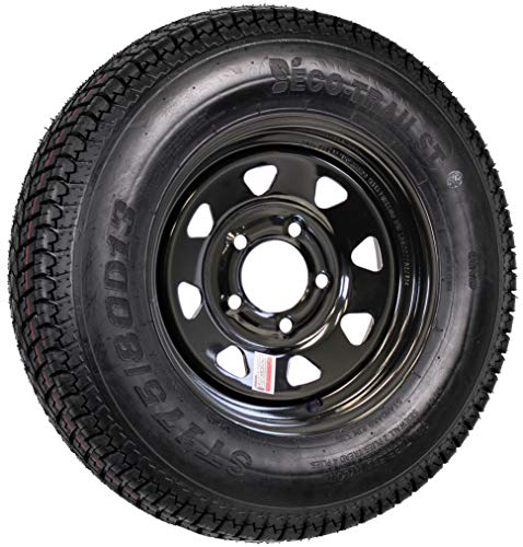 Trailer Tire On Rim Bias Ply ST175/80D13 175/80 D 13 LRC 5-4.5 Black Spoke Wheel