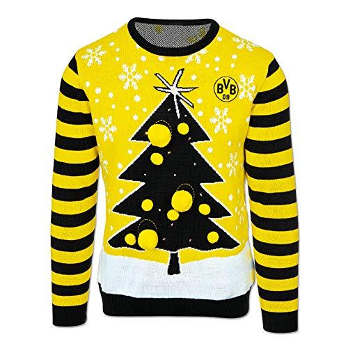 Borussia Dortmund Herren Bvb-weihnachtspullover 2019, schwarzgelb, M