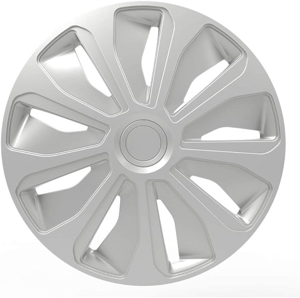 Autostyle Set Wheel Discount mail order Covers Platin OFFicial site 16-inch Silver