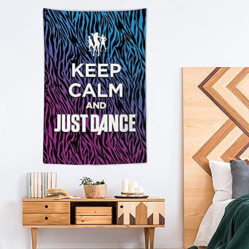 Tapiz «Keep Calm And Just Dance» – Tapiz de poliéster – Decoración del hogar – 100 x 150 cm