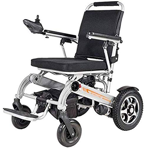 HuAma Elektrische Rollstühle Electric Wheelchair Modern Hand Push/Electric Durable Folding Outdoor 360° Intelligent Joystick Elderly Disabled Four-Wheeled Electric Wheelchair