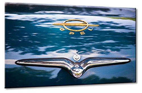 Fine-Art-Manufaktur Oldtimer Opel Kapitän Logo Blau Gold Car   Aus der Serie: Opel Best Of   Farbe: blau   Rubrik: opel + Auto Bilder