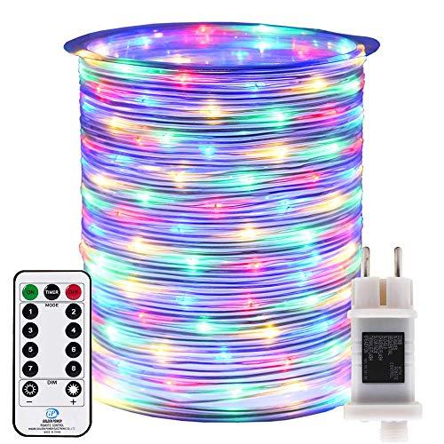 RcStarry - Guirnalda de luces LED (50 m, funciona con electricidad, con...