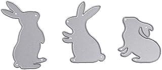 3 pièces Creative mignon lapin meurt coupe couture fil Die métal modèle pour bricoler Scrapbooking embosser, Autres access...