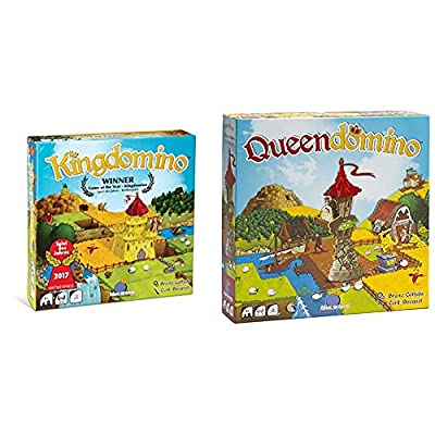 Blue Orange Games Kingdomino Award Winning Family Strategy Board Game & Queendomino Board Game - Family or Adult Strategy Board Game for 2 to 4 Players. Recommended for Ages 8 & Up