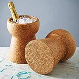 Kingsbottle Wood Bar Buckets Natural for Chiller Bin Basket for Parties, BBQ & Buffet