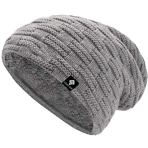 urban ace | Street Classics | Cozy fit Beanie, Mütze | Damen, Herren | mit weichem Teddyfell gefüttert | für warme Ohren | Relax fit (grau)