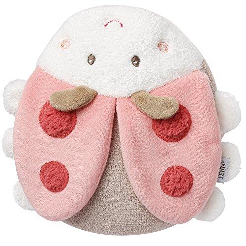 Fehn 068566 Kirschkernkissen Käfer – wohltuendes Wärme- und Kältekissen in süßem Käfer Design für Babys und Kleinkinder ab 0+ Monaten – Maße: 18 cm